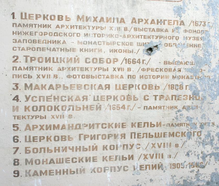Макарьевский монастырь.  Схематический план.
